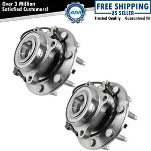 Front Wheel Hub Bearing Pair Set For Chevy Gmc Truck 8 Lug 4x4 4wd W Abs