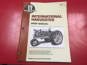 Farmall I t Shop Service Repair Technical Manual F12 F14 F20 F30 W12 W30 Ih2