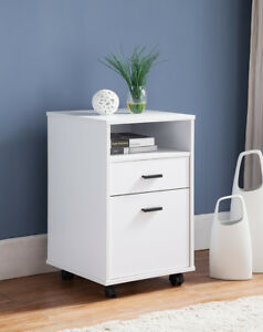 151180 Smart Home 2 Drawer Single Shelf File Cabinet white