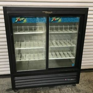 Sliding Glass Door Drink Display Cooler Refrigerator True Gdm 41sl 54 ld 6853