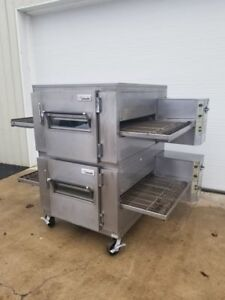 Lincoln Impinger Model 1450 Double Stack Gas Pizza Oven 32 Belt Width