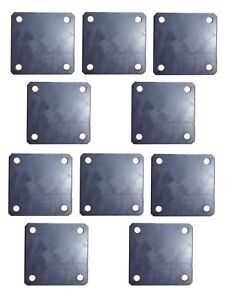 10x 4 Inch Square Metal Base Plate With 3 8 Holes Weld On Post