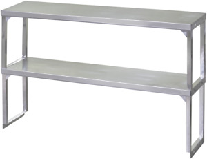 New 72 X 12 Double Over Shelf All Stainless Steel Nsf Storage Restaurant 1292
