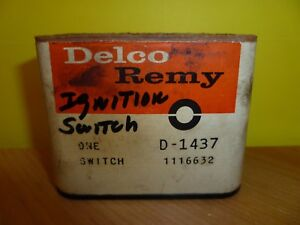 Nos Delco Remy Ignition Switch D 1437 1116632