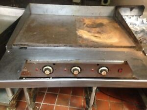 Vulcan 36 Thermostatic Gas Griddle Flat Grill W Stand And Casters Nat Gas