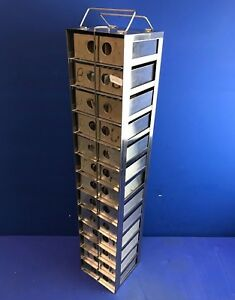 Stainless 13 shelf Dry Storage cryogenic Freezer Rack With Stainless Steel Boxes