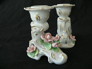Beautiful Pair Of Alka Kaiser Dresden Germany Candle Holders
