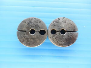 200 48 Ns 2 Thread Ring Gages Go No Go P d s 1865 1838 Inspection Toool