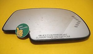 03 06 Chevy Gmc Truck Passenger Side Mirror Glass Turn Signal Heated Right