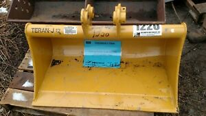 Heavy Duty Cat 302 36 Excavator Grading Ditching Cleaning Bucket 35mm Pins