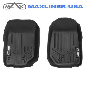 2007 2013 Jeep Wrangler Maxfloormat Custom Fit Floor Mats Liners 1st Row Black