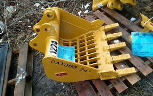 Heavy Duty Cat 303 24 Skeleton Excavator Digging Rock Bucket 40mm Pins