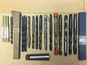 33 Assorted Taper Shank Drills 19 64 To 1 All New never Used