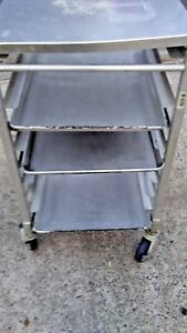 Commercial Baking Pan Rack Capacity 8 Trays Kitchen Bakery Cart Focus Aluminum