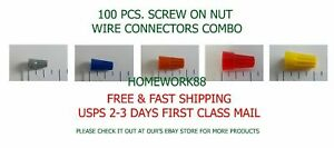 100 Pcs Screw On Wire Connector Combo P1 P2 P3 P4 P6 Csa ul Listed 22 8 Awg