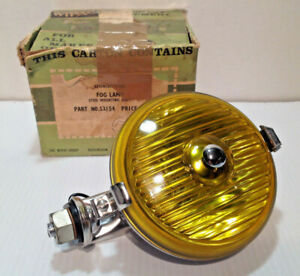 Vintage Wipac Made In England 5 Stainless Steel Fog Lamp W Fluted Amber Lens