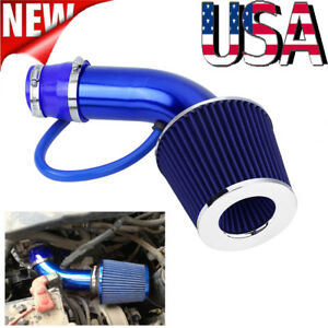 76mm 3 Universal Car Cold Air Intake Filter Aluminum Induction Hose Pipe Kit Us