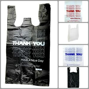 Market Grocery T Shirts Carry Out Bag Large Plastic Grocery High Quality Bundle