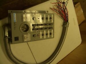 10 750 Ferraz Shawmut Emergen 10 Breaker Manual Transfer Switch Panel
