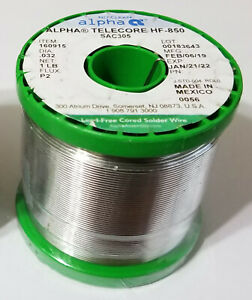 Alpha Halogen Free Hf 850 Solder 032 Sncx Plus 07 P3 No Clean Flux 175878 1lb