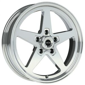 15x7 Vision Sport Star Ii Alumastar Pro Drag Race Star Wheel 5x4 75 1pc No Weld