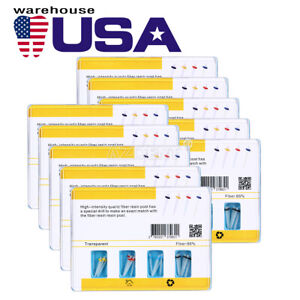 Usa New Dental Aaa Quartz Tiber Resin Fiber Posts Screw Thread Glass 4 Drills