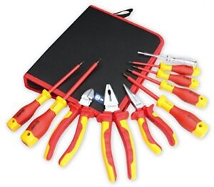 Booher 0200101 10 piece 1000v Insulated Electrician s Tool Set