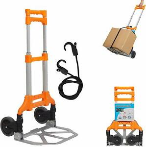 Aluminium Folding Hand Truck Travel Baggage Utility Carts Heavy Duty Dollies
