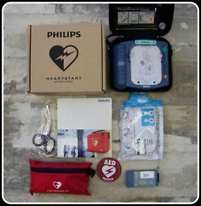 Philips Heartstart Onsite Mint Condition Aed Defibrillator New Pads M5066a