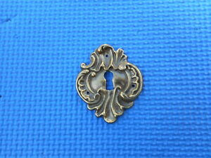 Vintage Cast Italian Brass Decorative Escutcheon Key Hole Cover High Quality Nos