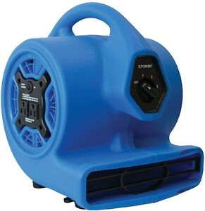 3 speed Mini Air Mover floor Dryer utility Blower Fan W Built in Power Outlets