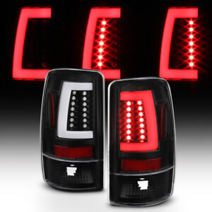 Black 2000 2006 Chevy Suburban Tahoe Gmc Yukon Led Bar Tail Lights Brake Lamps