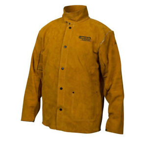 Lincoln Electric Kh807xl Heavy Duty Leather Welding Jacket Extra Large