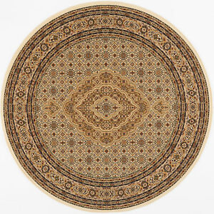 Ivory Free S H Round 8 X 8 Oriental Persian Area Rug 90 Actual 7 10 Round