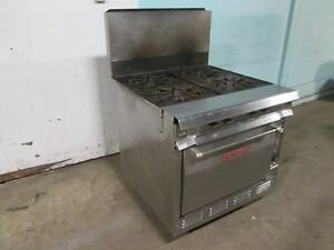 vulcan 7845 ab H d Commercial Natural Gas 4 Burners S s Stove range W oven