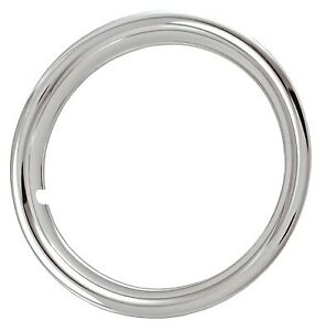 15 Standard Width Triple Chrome Plated Abs Trim Rings Set Of 4 New