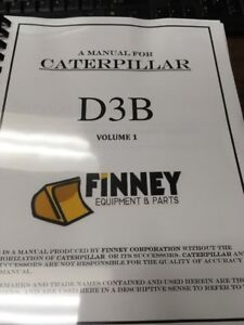 Cat Caterpillar D3b Service Manual Senr7911 Dozer Crawler Book Repair Shop 3204