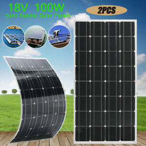 Us Elfeland 18v 100w 100watt Solar Panel Flexible For Motorhome Battery Charger