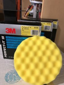 7 3m Perfect it Iii 50488 Polishing Pad Yellow 150mm For Extra Fine