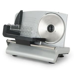 Electric Meat Slicer Stainless Steel Blade Bread Cheese Cutter Deli Food Machine