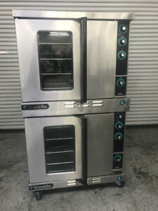 Double Stack Gas Convection Oven Franklin 613 g4v 7882 Commercial Bakery Nsf