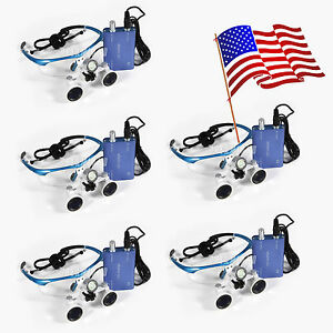 5x Us Led Headlight Lamp dental Surgical Medical Binocular Loupes 3 5x420mm Wu s