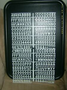 Message Menu Board Sign W 2 Sets Of Letters Numbers