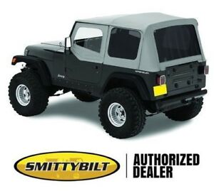 Smittybilt Replacement Soft Top W Half Door Skins Gray 87 95 Jeep Wrangler Yj