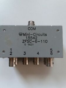 Mini circuits Zfsc 6 110 Six way Splitter Rf Microwave