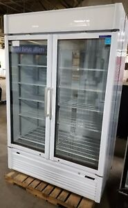Turbo Air 2 Swing Door Beverage Cooler Refrigerator Model Tgf 47sdw