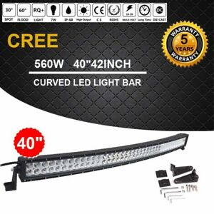 42inch 560w Curved Led Light Bar Cree Flood Spot Combo Offroad Truck Jeep T1