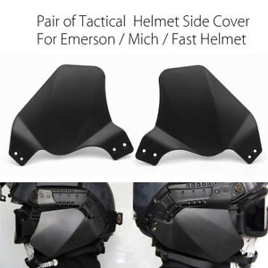 2x Tactical Side Cover Hunting Rail Ear Protector For Emerson Mich Fast Helmet