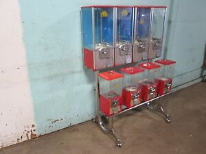 northwestern Commercial Heavy Duty Bank Of 8 Coin Operated Gumball Machines