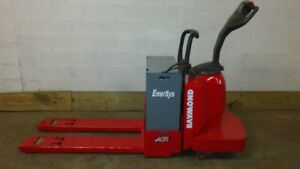 2006 Raymond 6000 Lb Capacity 24 Volt Ride On Walk Behind Electric Pallet Jack